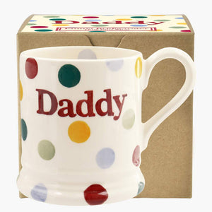 cadeauxwells - Polka Dot 'Daddy' 1/2 Pint Mug Boxed - Emma Bridgewater - Crockery