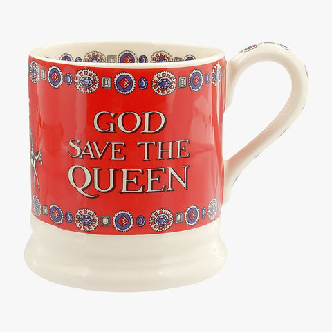 cadeauxwells - God Save the Queen 1/2 Pint Mug - Emma Bridgewater - Crockery