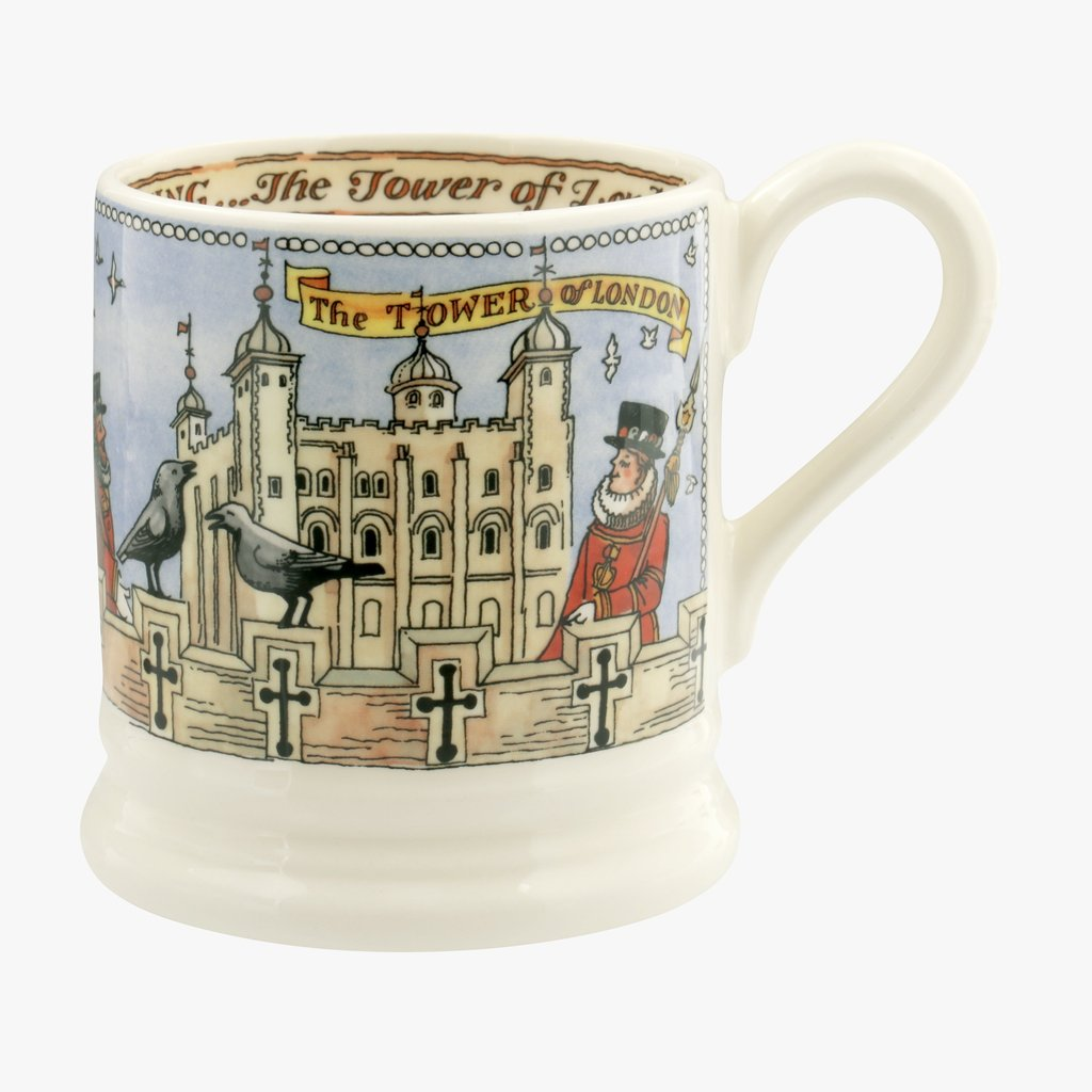 cadeauxwells - Tower of London 1/2 Pint Mug - Emma Bridgewater - Crockery