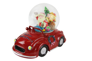 cadeauxwells - Large Santa In Car Music Dome - Gisela Graham - Seasonal