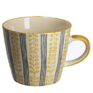 Mustard Berry Stripe Ceramic Mug
