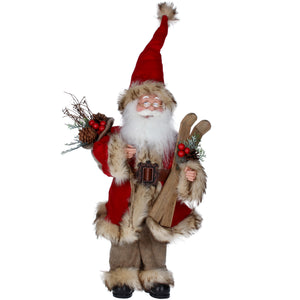 cadeauxwells - Plush Woodland Santa Ornament - Gisela Graham - Seasonal