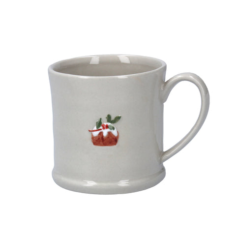 Ceramic Mini Mug with Plum Pudding