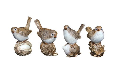 cadeauxwells - Glittered Bird Ornament Cones/Nuts Ornaments - Gisela Graham - Seasonal