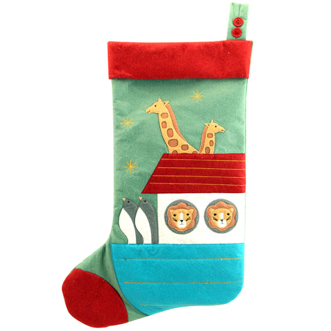 cadeauxwells - Large Felt Noah's Ark Stocking - Gisela Graham - Seasonal