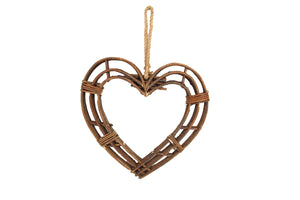 Medium Twig Frame Heart Wreath