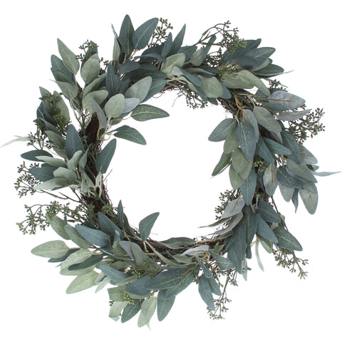 cadeauxwells - Eucalyptus/Leaf Wreath - Gisela Graham - Seasonal