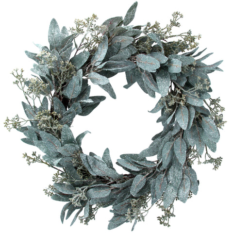 Frosted Eucalyptus Leaf Wreath