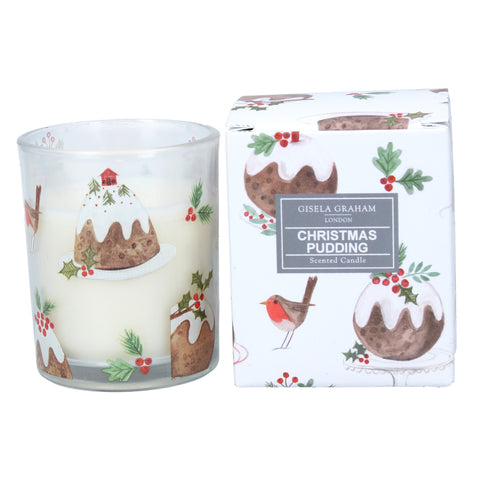 Small Plum Pudding Boxed Candle