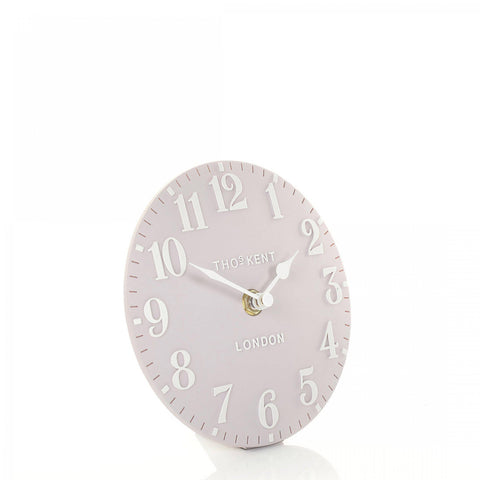 "cadeauxwells - 6"" Arabic Mantel Clock Dusty Pink - Art Marketing - Homewares"
