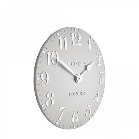 "cadeauxwells - 12"" Arabic Wall Clock Dove Grey - Art Marketing - Homewares"