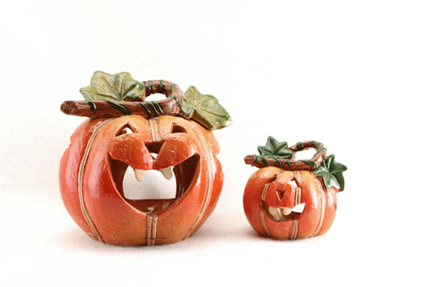 Ceramic Pumpkin Night Light Ornaments
