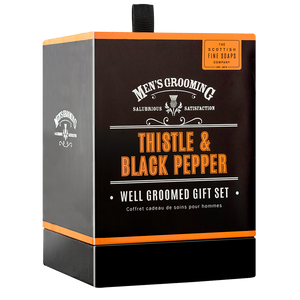 cadeauxwells - Thistle and Black Pepper Well Groomed Gift Set - Scottish Fine Soaps - Perfumery