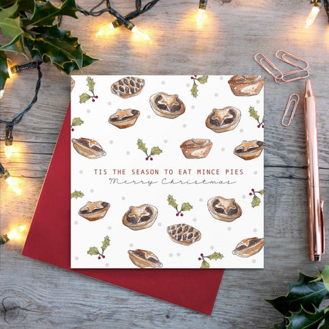 cadeauxwells - Tis the Season to Eat Mince Pies card - Toasted Crumpet - Greetings Cards