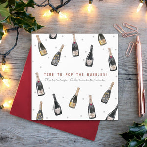 cadeauxwells - Time to Pop the Bubbles card - Toasted Crumpet - Greetings Cards
