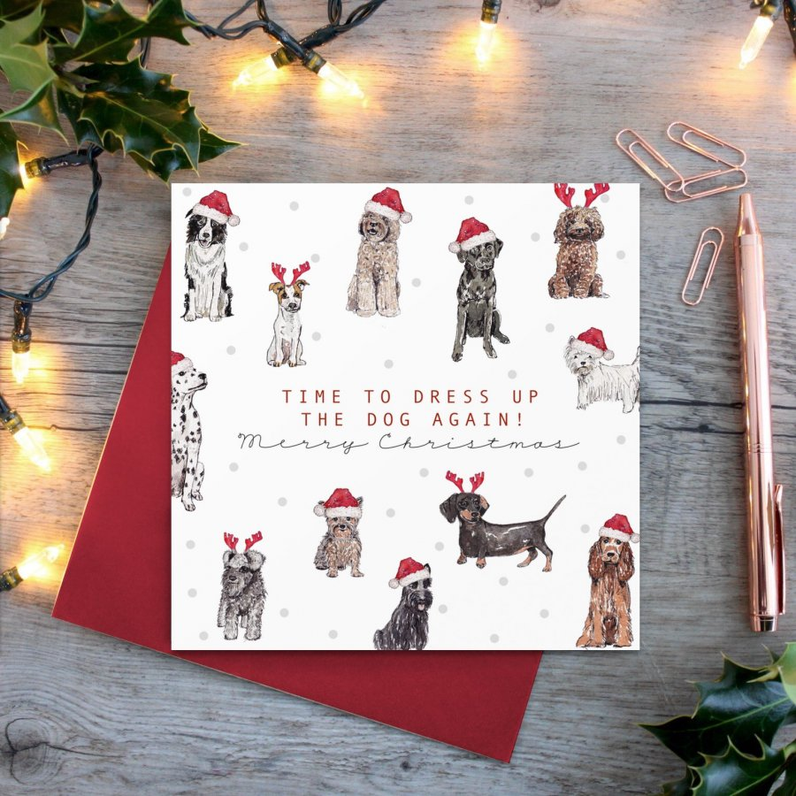 cadeauxwells - Time to Dress up the Dog card - Toasted Crumpet - Greetings Cards