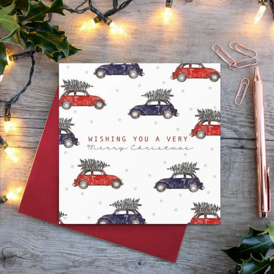 cadeauxwells - Christmas (Vintage Cars) card - Toasted Crumpet - Seasonal Cards