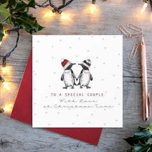 cadeauxwells - Gorgeous Couple (penguins) card - Toasted Crumpet - Greetings Cards