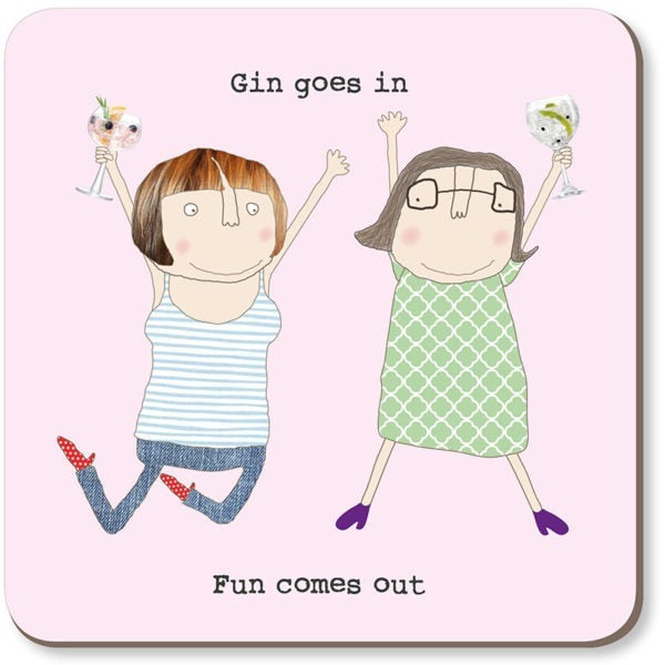 cadeauxwells - Gin Goes In Coaster - Rosie Made a Thing - Homewares