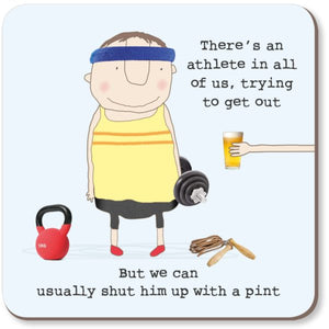 cadeauxwells - Athlete Pint Coaster - Rosie Made a Thing - Homewares
