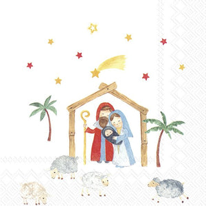 Cocktail Napkins – Christmas Crib