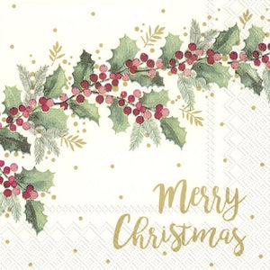 Cocktail Napkins – Merry Christmas