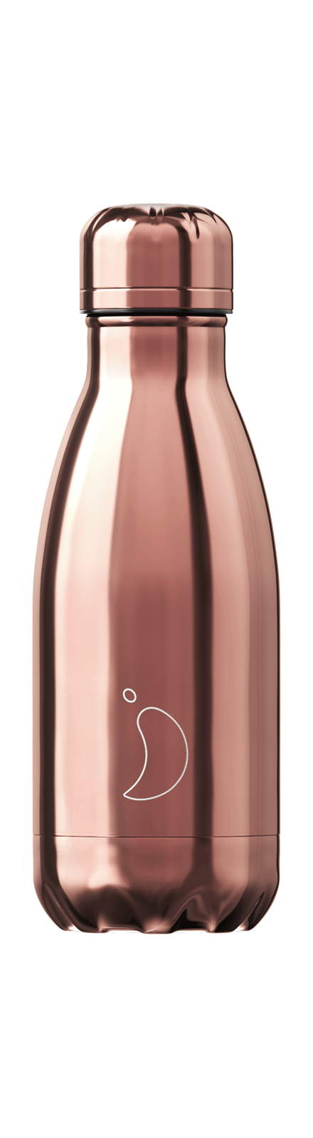 cadeauxwells - 260ml Chilly's Bottles - Chrome Rose Gold - Chilly's Bottles - Homewares