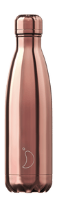 cadeauxwells - 500ml Chilly's Bottle - Chrome Rose Gold - Chilly's Bottles - Homewares