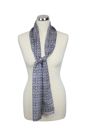 cadeauxwells - Clover Scarf in Navy - Peony - Accessories