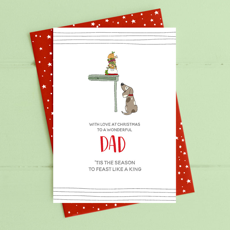 cadeauxwells - Dad - 'tis the season feast like a king - Dandelion Stationery - Seasonal Cards