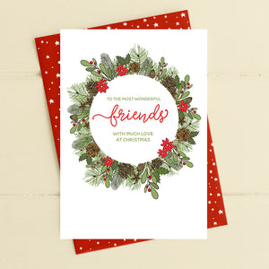 cadeauxwells - To wonderful Friends - love at Christmas - Dandelion Stationery - Seasonal Cards