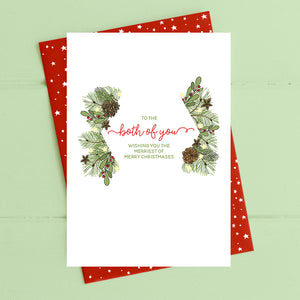 cadeauxwells - Both of you - merriest of merry christmases - Dandelion Stationery - Seasonal Cards