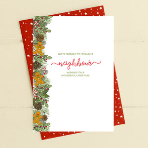 cadeauxwells - Favourite Neighbour - love at Christmas - Dandelion Stationery - Seasonal Cards