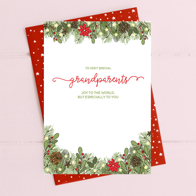 cadeauxwells - Grandparents - joy to the world - Dandelion Stationery - Seasonal Cards