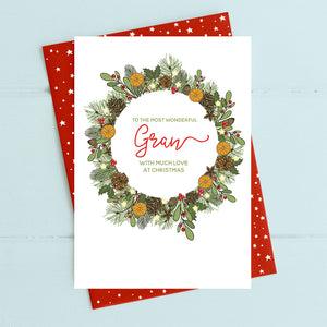 cadeauxwells - Gran - with love at Christmas - Dandelion Stationery - Seasonal Cards