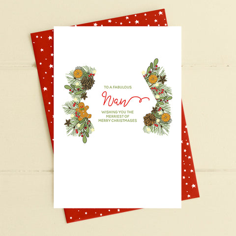 cadeauxwells - Nan - merriest of merry christmases - Dandelion Stationery - Seasonal Cards