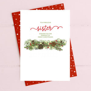cadeauxwells - Sister - joy to the world - Dandelion Stationery - Seasonal Cards