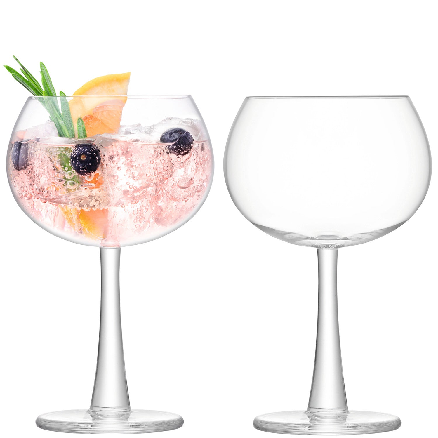 cadeauxwells - Set of 2 Clear Gin Balloon Glasses - LSA - Glassware