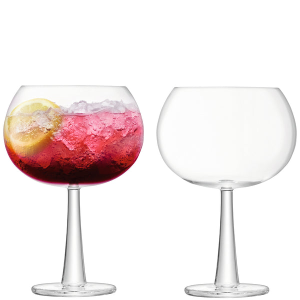 cadeauxwells - Set of 2 Clear Grand Gin Balloon Glasses - LSA - Glassware