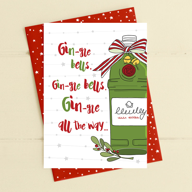cadeauxwells - Gin-gle Bells - Dandelion Stationery - Seasonal Cards
