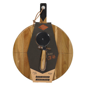 cadeauxwells - Pizza Cutter & Serving Board - Wild and Wolf -