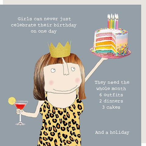 cadeauxwells - Girls Birthday - Rosie Made a Thing - Greetings Cards