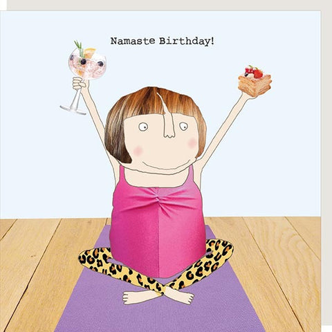 cadeauxwells - Namaste Birthday - Rosie Made a Thing - Greetings Cards