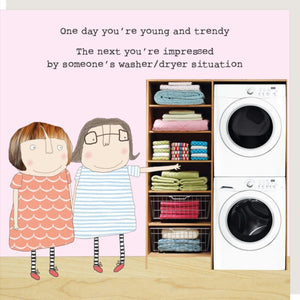 cadeauxwells - Washer / Dryer - Rosie Made a Thing - Greetings Card