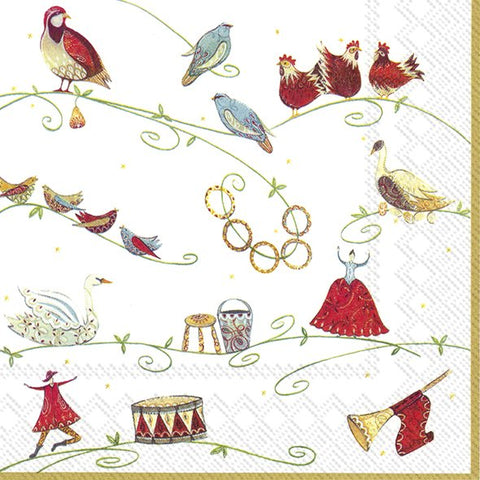 Lunch Napkins - 12 Days of Christmas