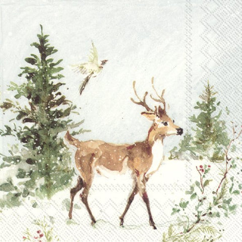 Lunch Napkins – Woodland Deer and Moose