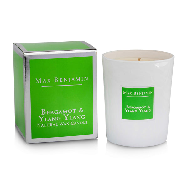 cadeauxwells - Scented Candle - Bergamot and Ylang Ylang - Max Benjamin - Candles