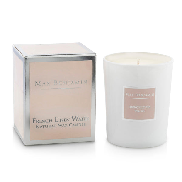 cadeauxwells - Scented Candle - French Linen Water - Max Benjamin - Candles