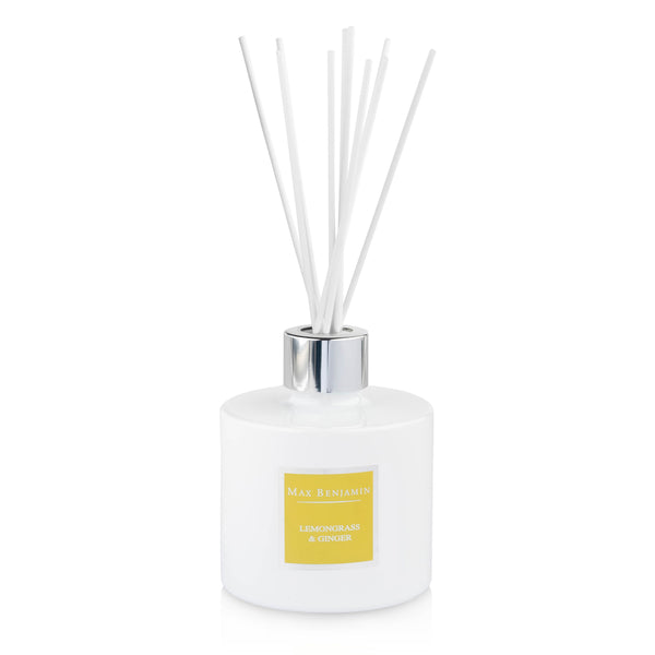 cadeauxwells - Fragrance Diffuser - Lemongrass and Ginger - Max Benjamin - Candles