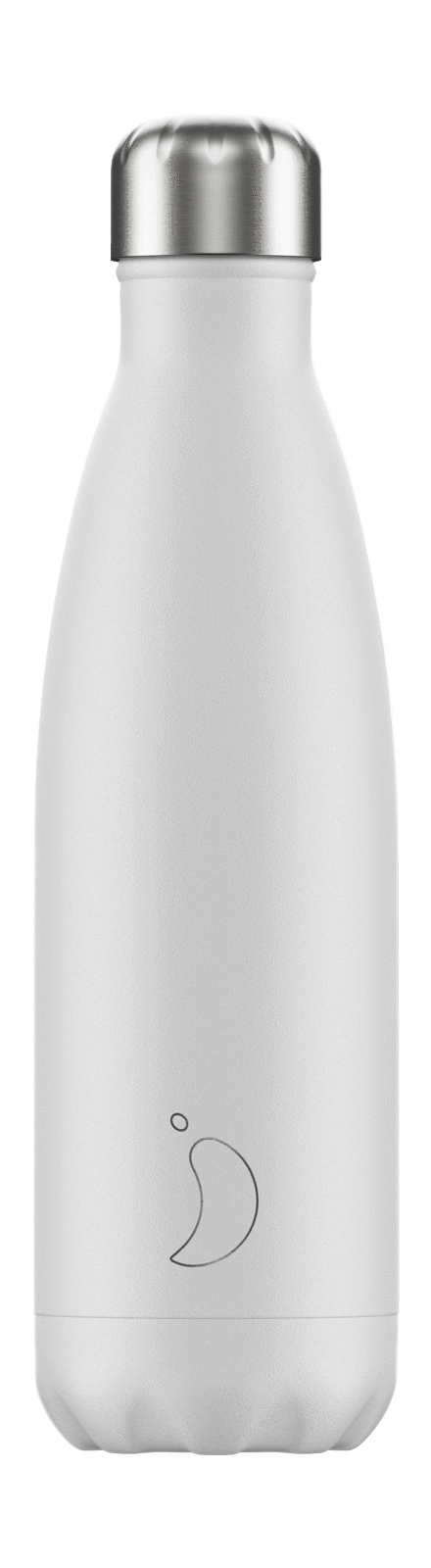 cadeauxwells - 500ml Chilly's Bottle - Monochrome White - Chilly's Bottles - Homewares